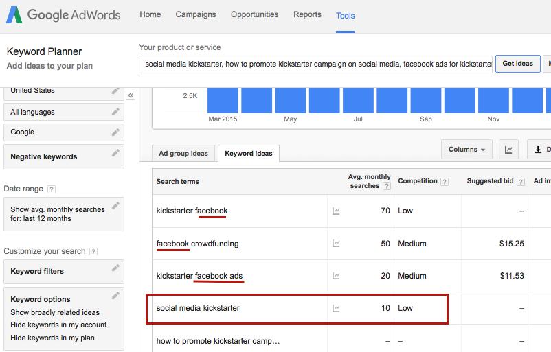 keyword planner choosing right keyword