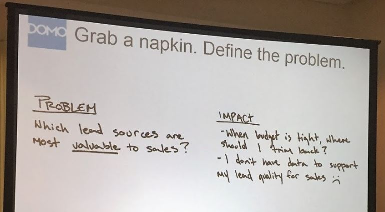 defining the problem domo talk