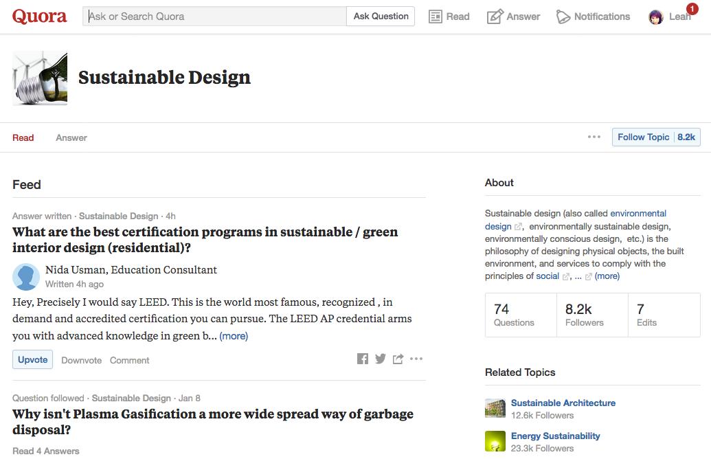 quora sustainable design